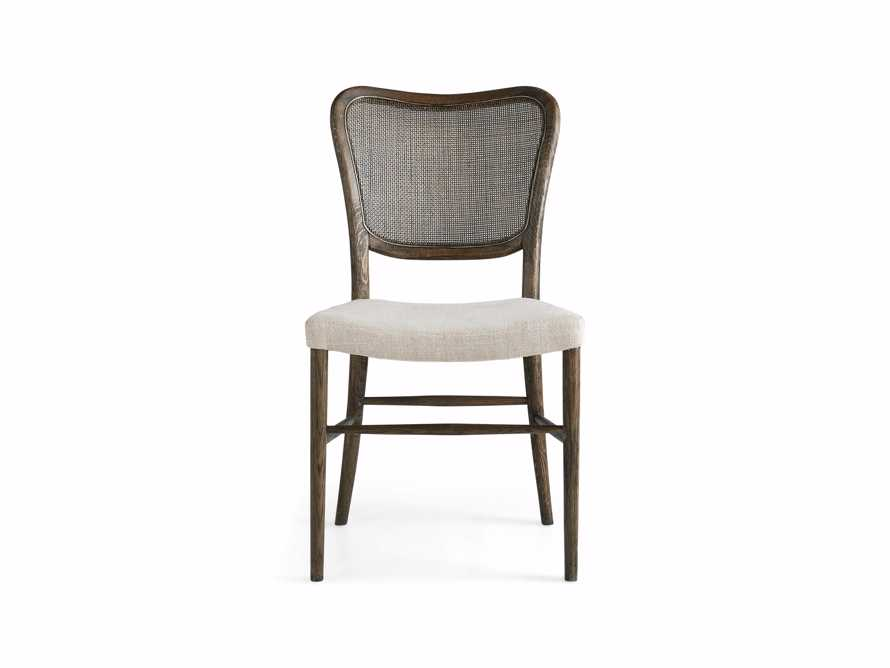 Noa Dining Chair in Cinder with Linen Natural seat, slide 8 of 9
