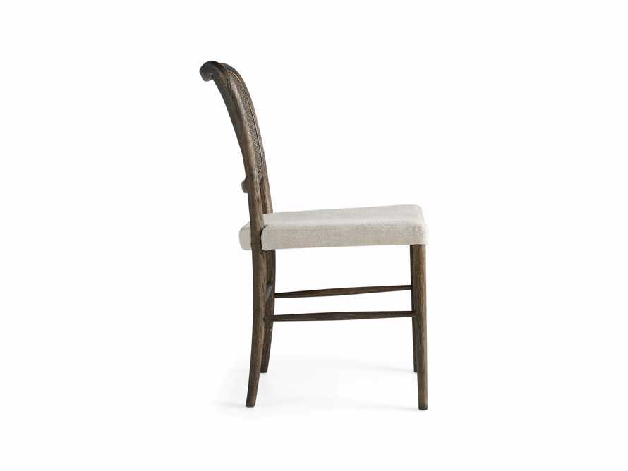 Noa Dining Chair in Cinder with Linen Natural seat, slide 9 of 9