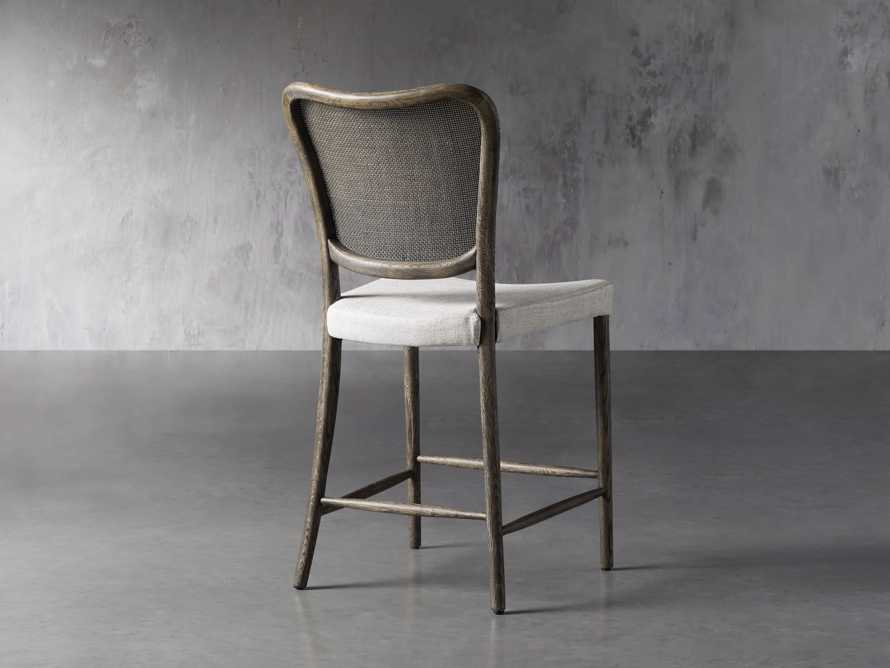 Noa Counter Stool in Cinder with Linen Natural seat, slide 3 of 6