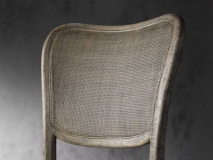 Noa Counter Stool in Cinder with Linen Natural seat, slide 4 of 6