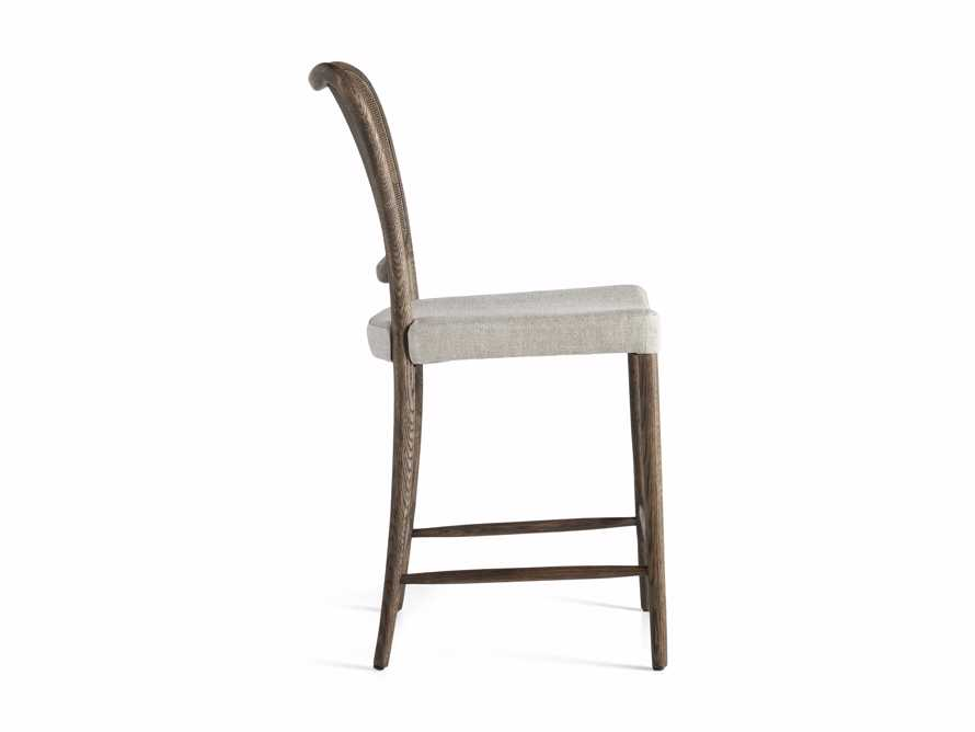 Noa Counter Stool in Cinder with Linen Natural seat, slide 6 of 6