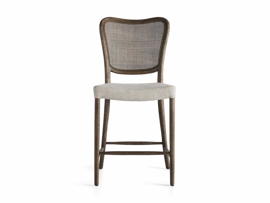 Noa Counter Stool in Cinder with Linen Natural seat, slide 5 of 6
