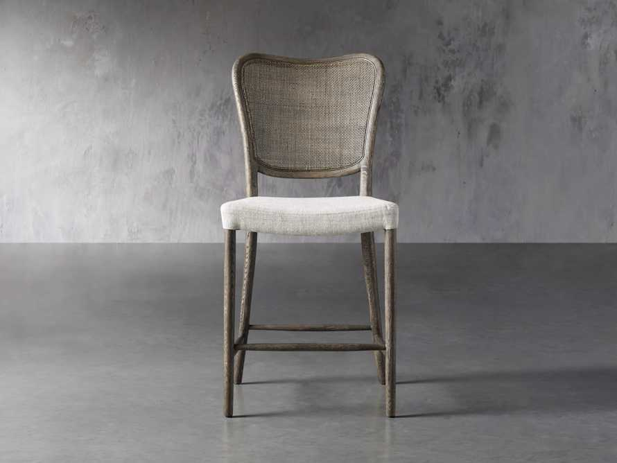 Noa Counter Stool in Cinder with Linen Natural seat, slide 1 of 6