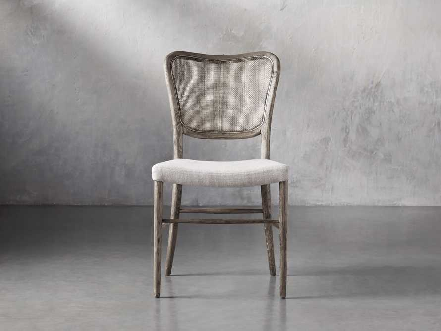 Noa Dining Chair in Stone Vintage with Linen Natural seat, slide 2 of 9