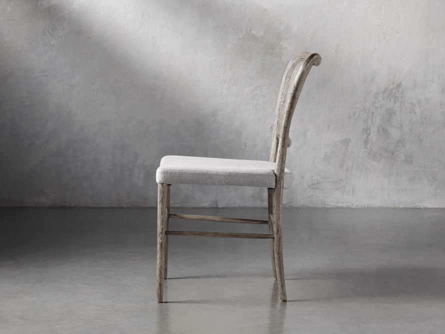 Noa Dining Chair in Stone Vintage with Linen Natural seat, slide 4 of 9