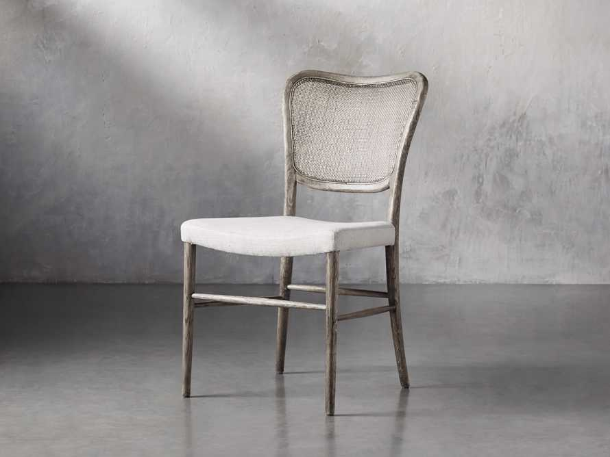 Noa Dining Chair in Stone Vintage with Linen Natural seat, slide 3 of 9