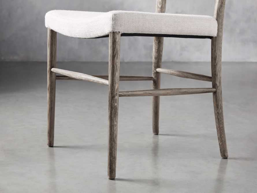 Noa Dining Chair in Stone Vintage with Linen Natural seat, slide 7 of 9