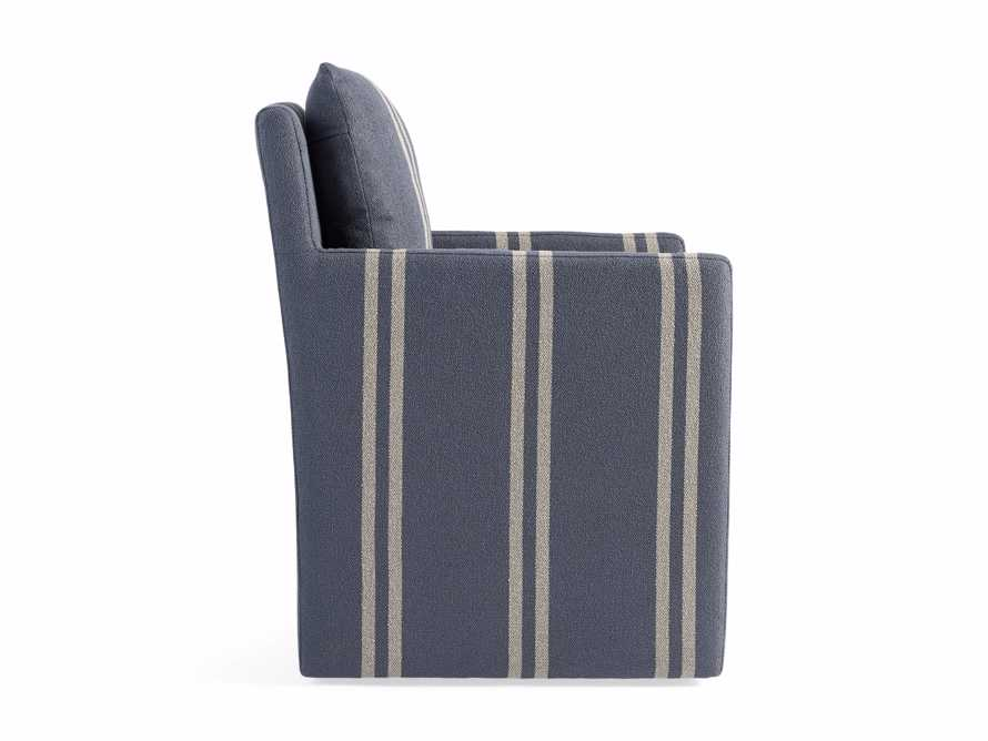 "Oscar Upholstered 24"" Dining Arm Chair in Coba Jeans, slide 8 of 8"
