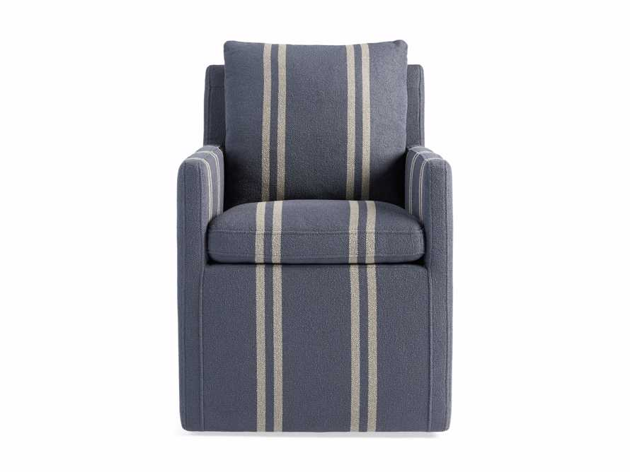 "Oscar Upholstered 24"" Dining Arm Chair in Coba Jeans, slide 7 of 8"