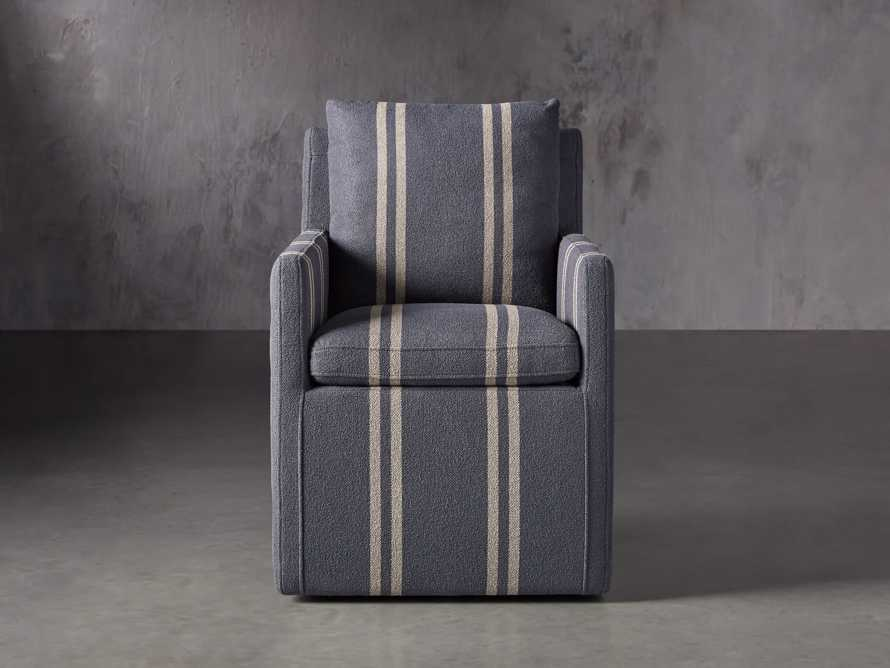 "Oscar Upholstered 24"" Dining Arm Chair in Coba Jeans, slide 2 of 8"