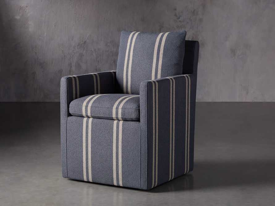 "Oscar Upholstered 24"" Dining Arm Chair in Coba Jeans, slide 3 of 8"