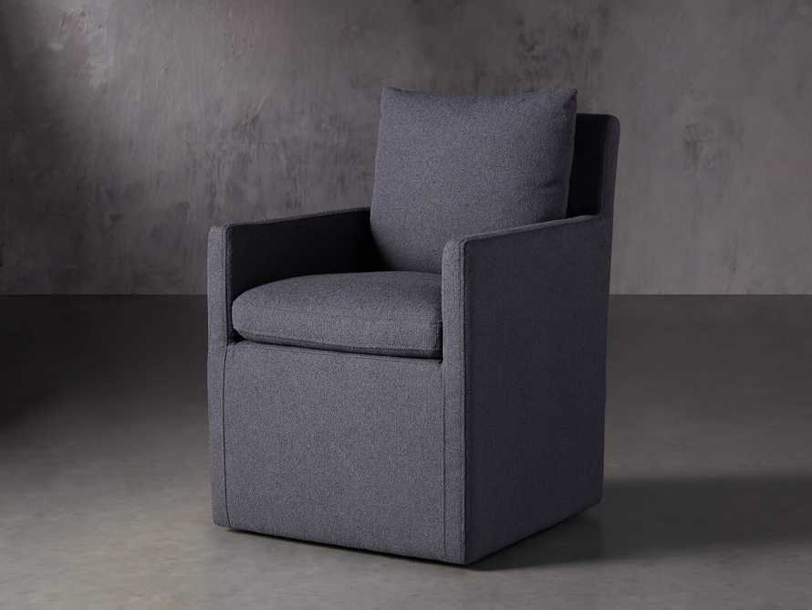 Oscar Upholstered Dining Arm Chair in Zona Jeans, slide 2 of 7