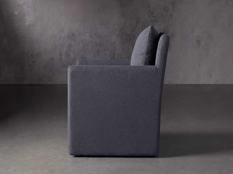 Oscar Upholstered Dining Arm Chair in Zona Jeans, slide 3 of 7