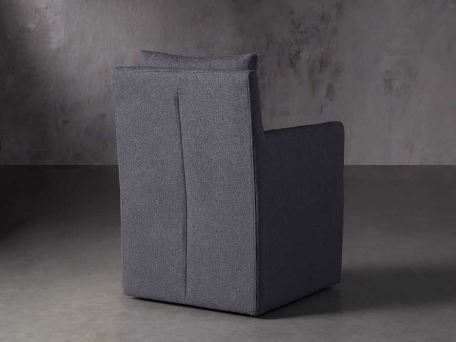 Oscar Upholstered Dining Arm Chair in Zona Jeans, slide 4 of 7