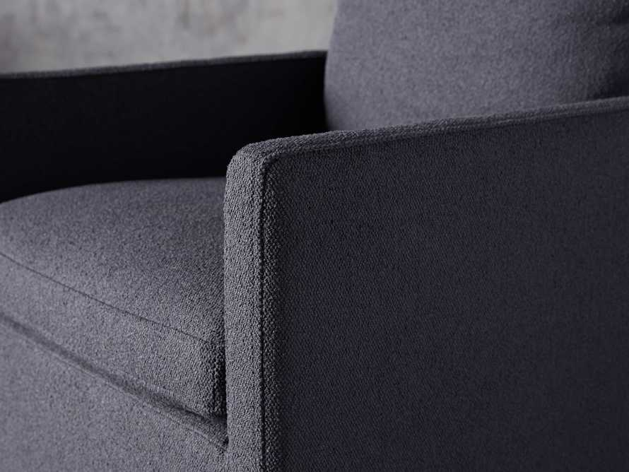 Oscar Upholstered Dining Arm Chair in Zona Jeans, slide 5 of 7