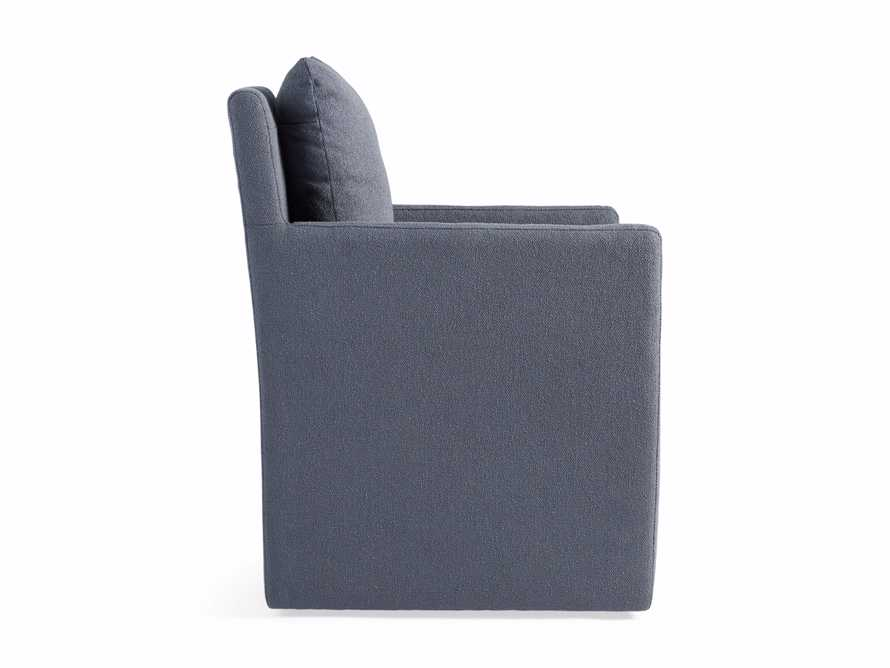 Oscar Upholstered Dining Arm Chair in Zona Jeans, slide 7 of 7