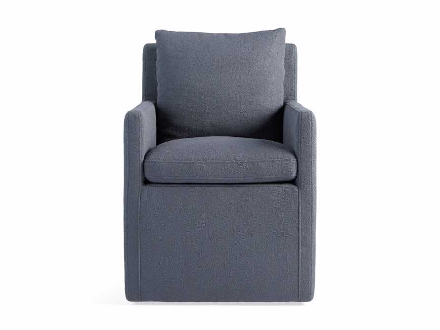 Oscar Upholstered Dining Arm Chair in Zona Jeans, slide 6 of 7