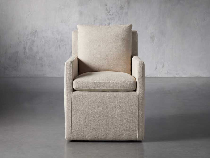 """Oscar Upholstered 24"""" Dining Arm Chair in Zona Sand, slide 2 of 9"""