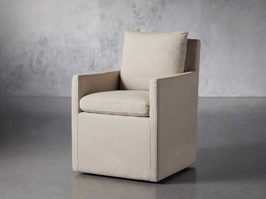 """Oscar Upholstered 24"""" Dining Arm Chair in Zona Sand, slide 3 of 9"""
