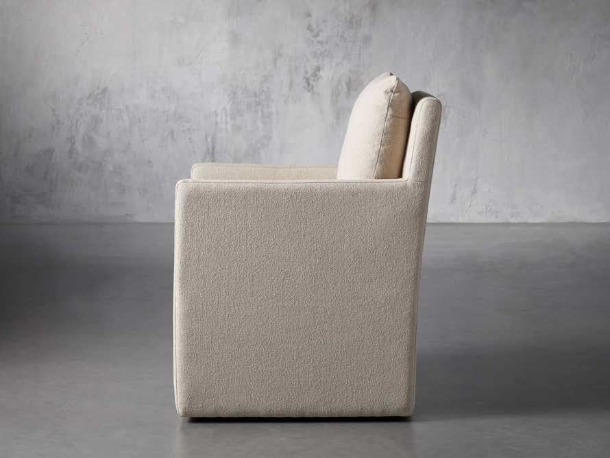 """Oscar Upholstered 24"""" Dining Arm Chair in Zona Sand, slide 4 of 9"""