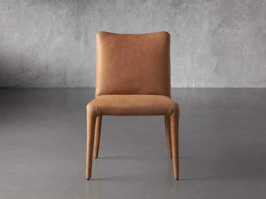 """Pelle 23"""" Dining Side Chair Burnham Camel, slide 2 of 8"""