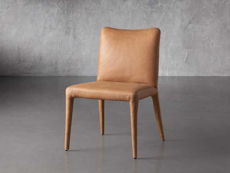 """Pelle 23"""" Dining Side Chair Burnham Camel, slide 3 of 8"""
