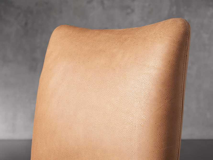 """Pelle 23"""" Dining Side Chair Burnham Camel, slide 6 of 8"""