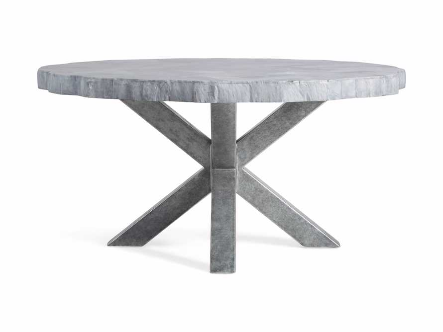"""Petra 54"""" Round Grey Marble Dining Table, slide 9 of 10"""