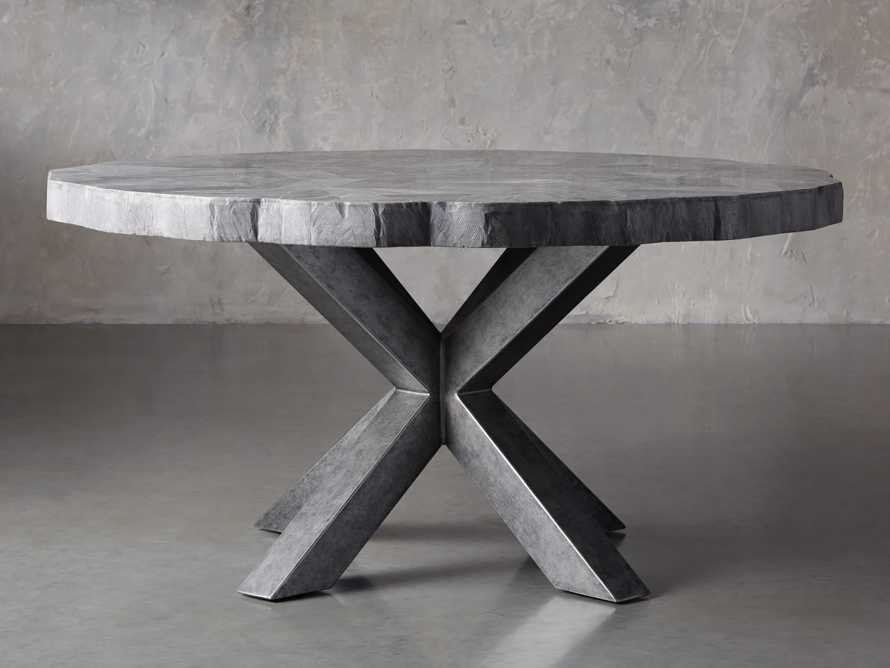 """Petra 54"""" Round Grey Marble Dining Table, slide 2 of 10"""