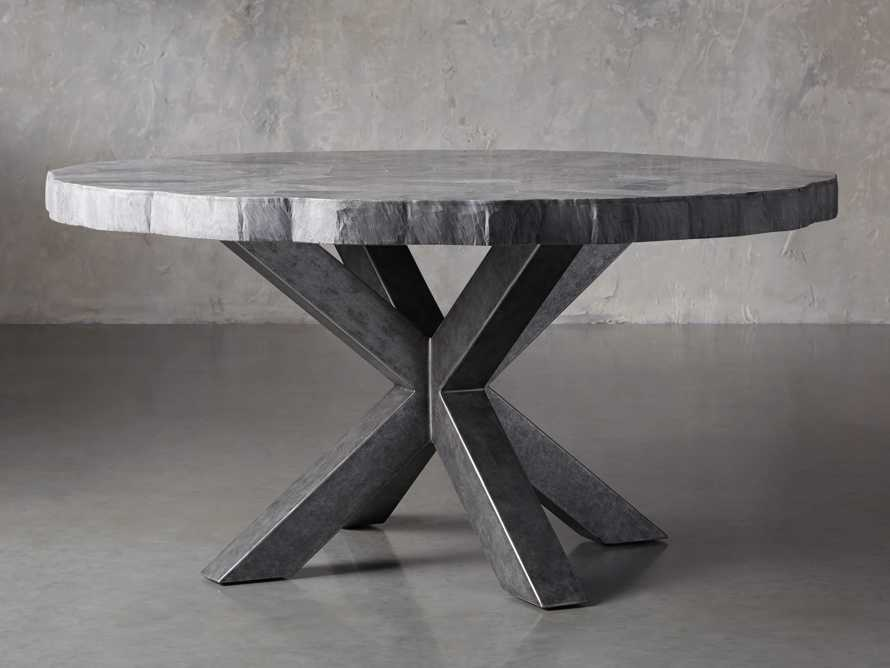 """Petra 54"""" Round Grey Marble Dining Table, slide 4 of 10"""