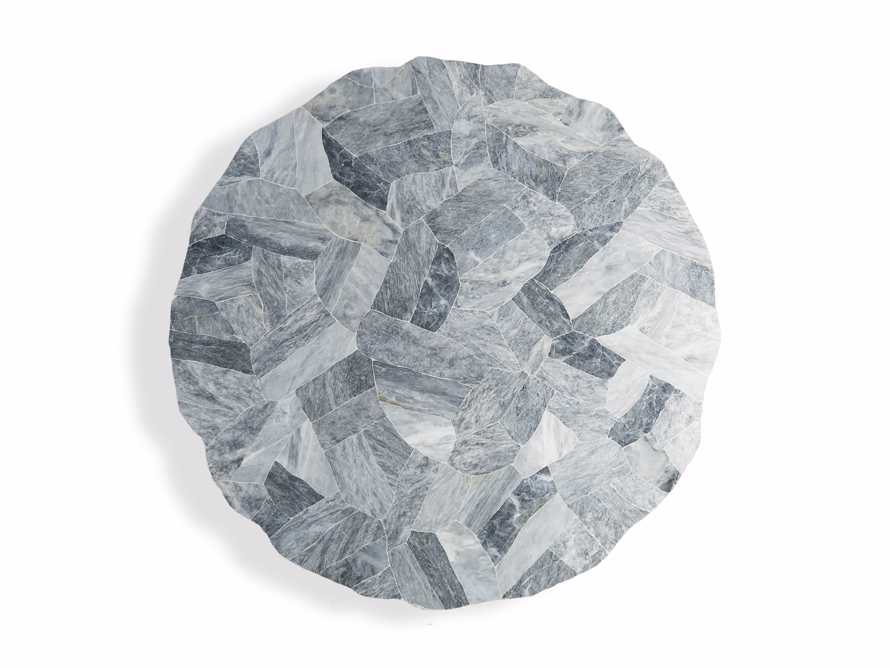 """Petra 72"""" Round Grey Marble Dining Table, slide 7 of 10"""