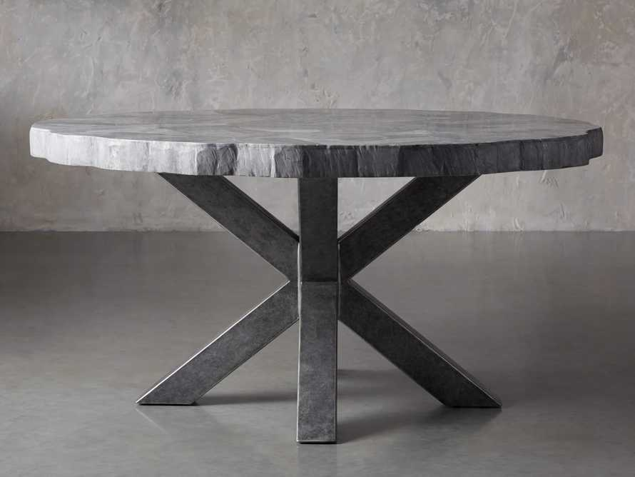 """Petra 72"""" Round Grey Marble Dining Table, slide 3 of 10"""
