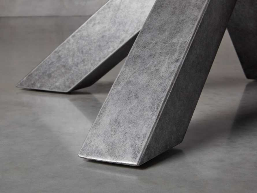 """Petra 72"""" Round Grey Marble Dining Table, slide 6 of 10"""