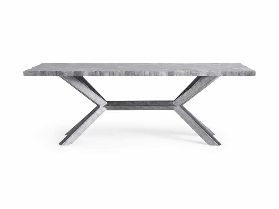 "Petra 74"" Rectangle Grey Marble Dining Table, slide 7 of 8"
