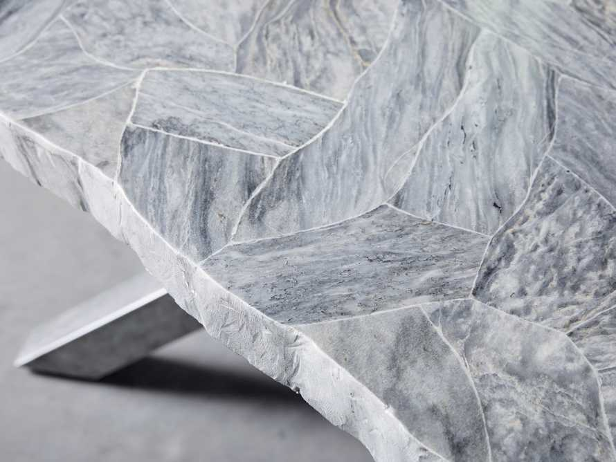 "Petra 74"" Rectangle Grey Marble Dining Table, slide 5 of 8"