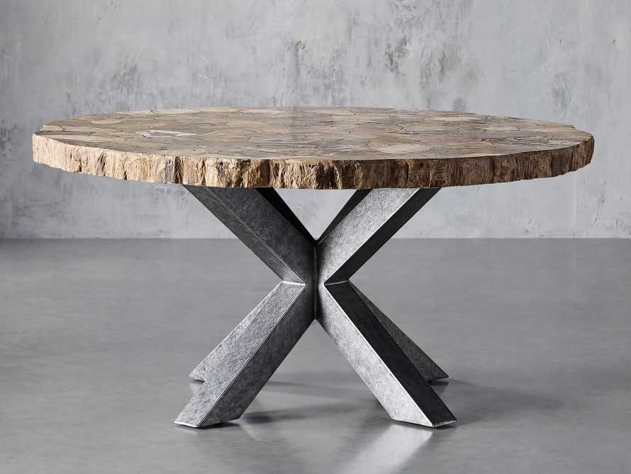 """Petra 54"""" Round Petrified Wood Dining Table, slide 1 of 8"""