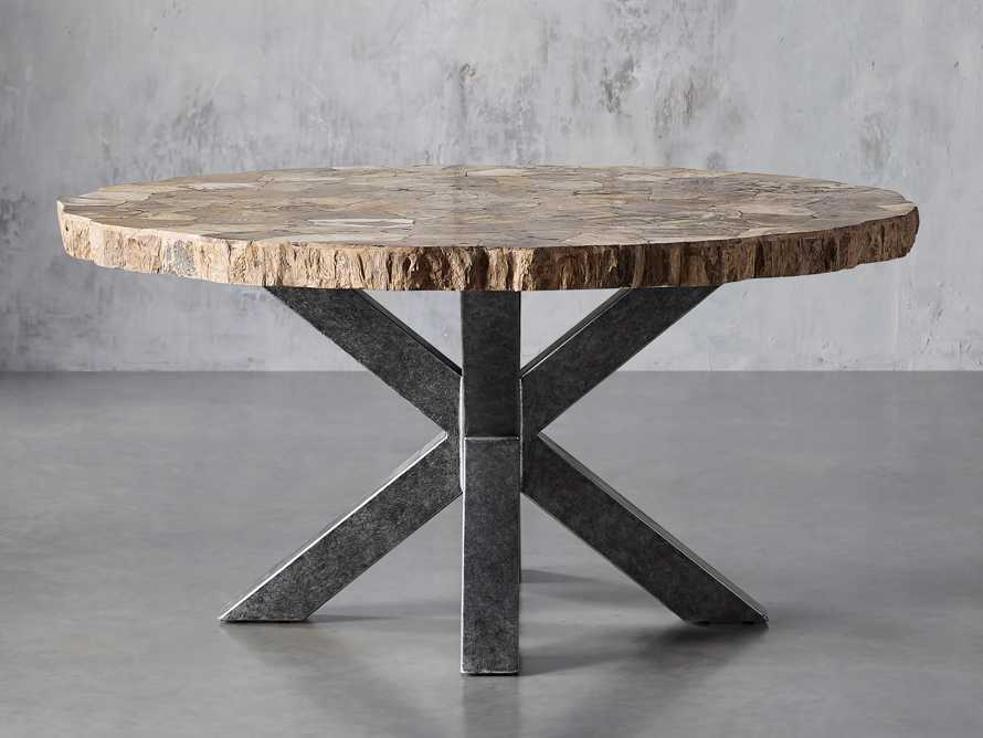 "Petra 54"" Round Petrified Wood Dining Table, slide 2 of 8"