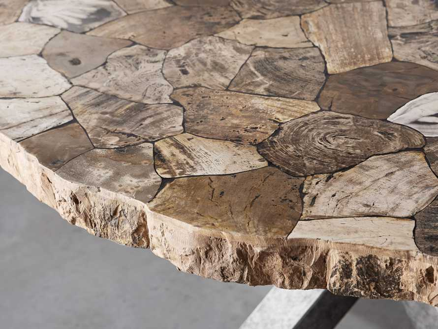 "Petra 54"" Round Petrified Wood Dining Table, slide 3 of 8"