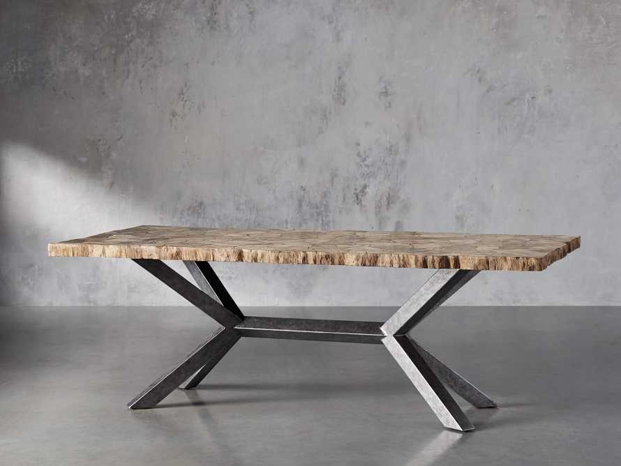 "Petra 74"" Rectangle Petrified Wood Dining Table"
