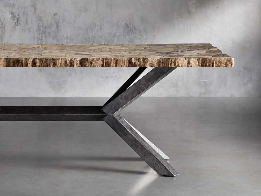 """Petra 74"""" Rectangle Petrified Wood Dining Table, slide 1 of 9"""