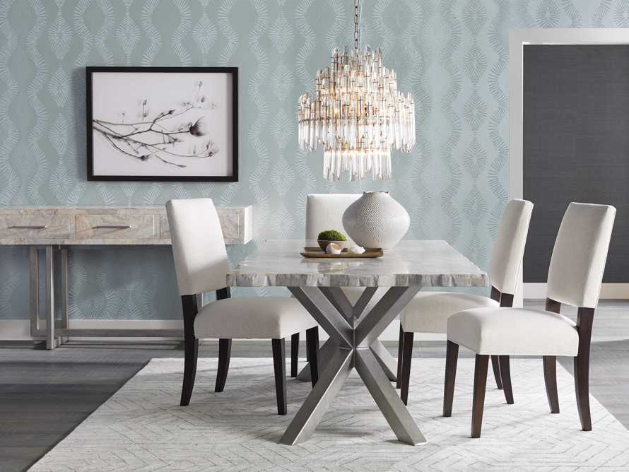 """Petra 86"""" Rectangle Century Marble Dining Table in White, slide 1 of 13"""