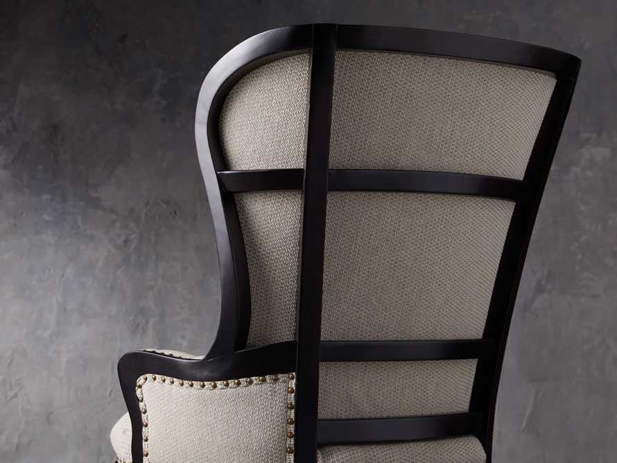 "Portsmouth Upholstered 32"" Dining Arm Chair in Jennings Cement, slide 5 of 8"