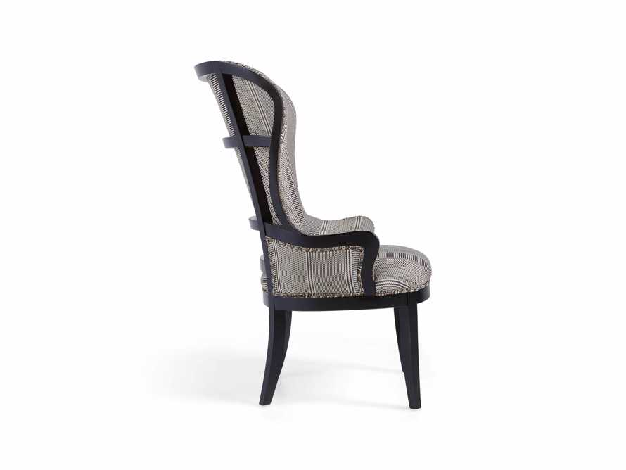 "Portsmouth Upholstered 32"" Dining Arm Chair in Windrow Peppercorn and Cary Linen, slide 9 of 9"