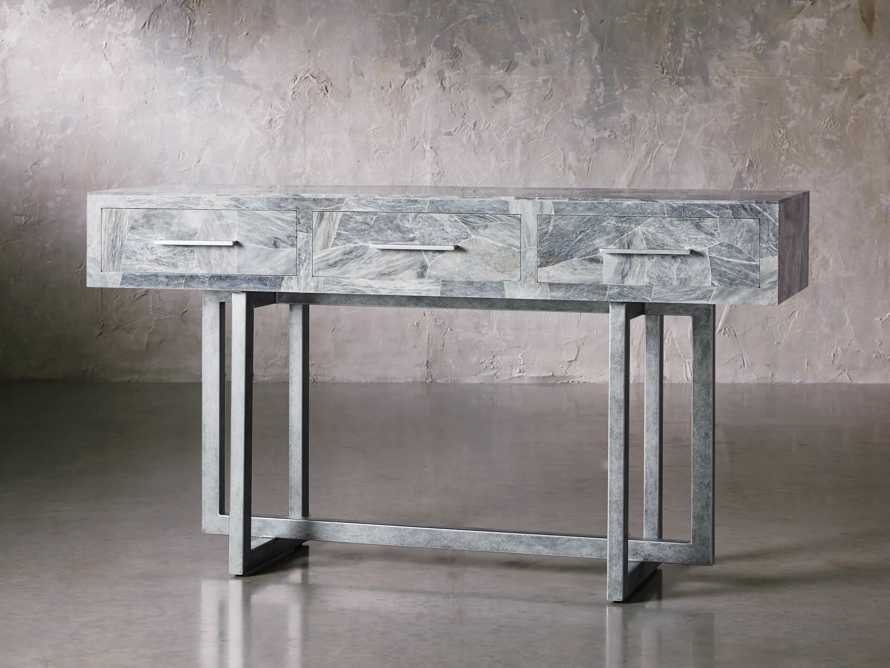 "Petra 65"" Grey Marble Server, slide 2 of 11"