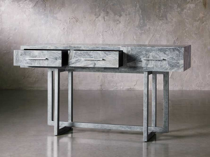 "Petra 65"" Grey Marble Server, slide 3 of 11"
