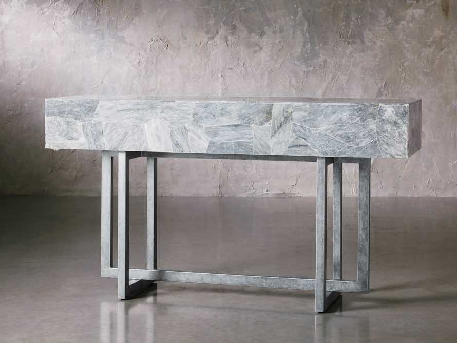 "Petra 65"" Grey Marble Server, slide 4 of 11"