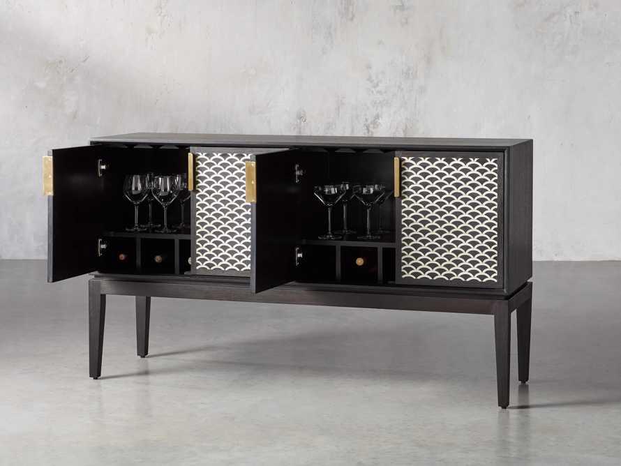 """Raja 60"""" Bar Cabinet in Panther Black"""