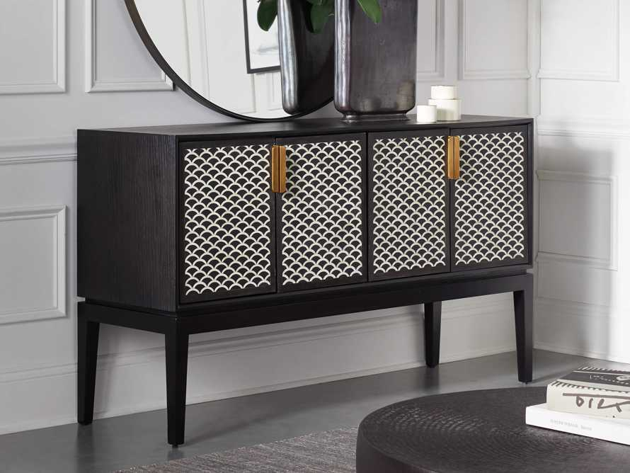 "Raja 60"" Bar Cabinet in Panther Black, slide 10 of 16"