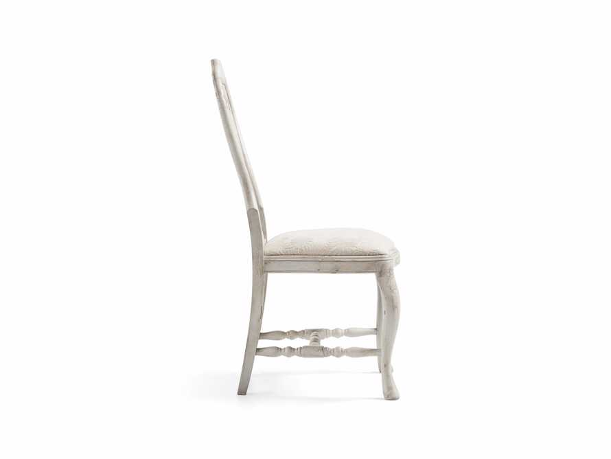 "Regina 22"" Bell'Arte Dining Side Chair with Upholstered Seat in Antico Bianco"