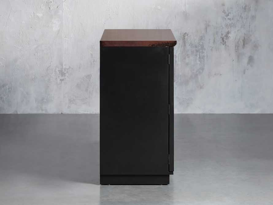 Renata Buffet in Grooved Chocolate Copper